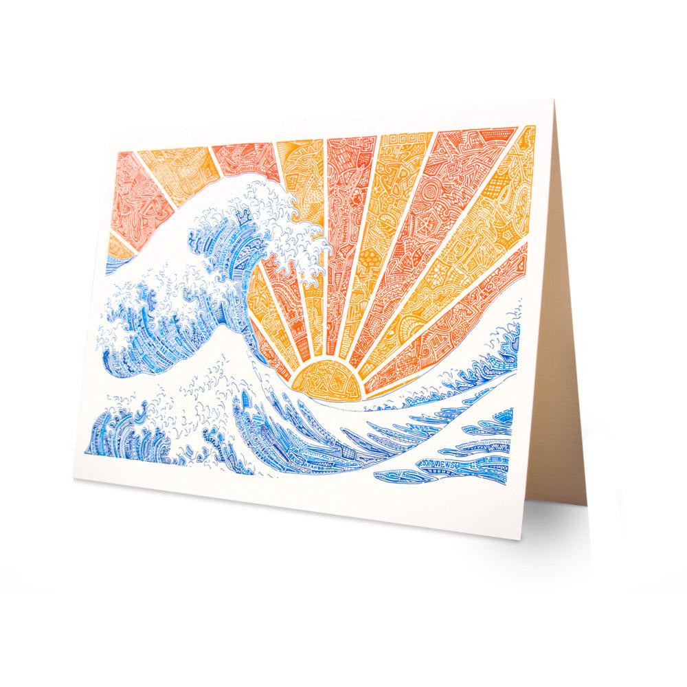 Greeting Card - Off California (Red/Orange)-Greeting Cards-Viz Art Ink