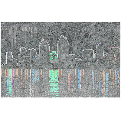 """Reflecting San Diego"" Original-Original -Viz Art Ink"