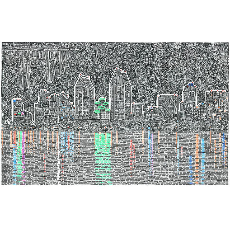Art Print - Reflecting San Diego-Art Print-Viz Art Ink