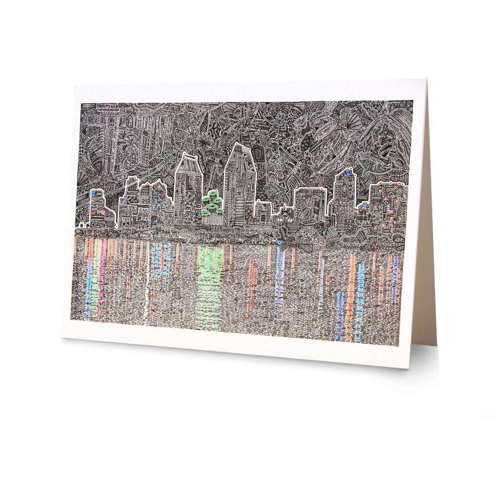 Greeting Card - Reflecting San Diego-Greeting Cards-Viz Art Ink