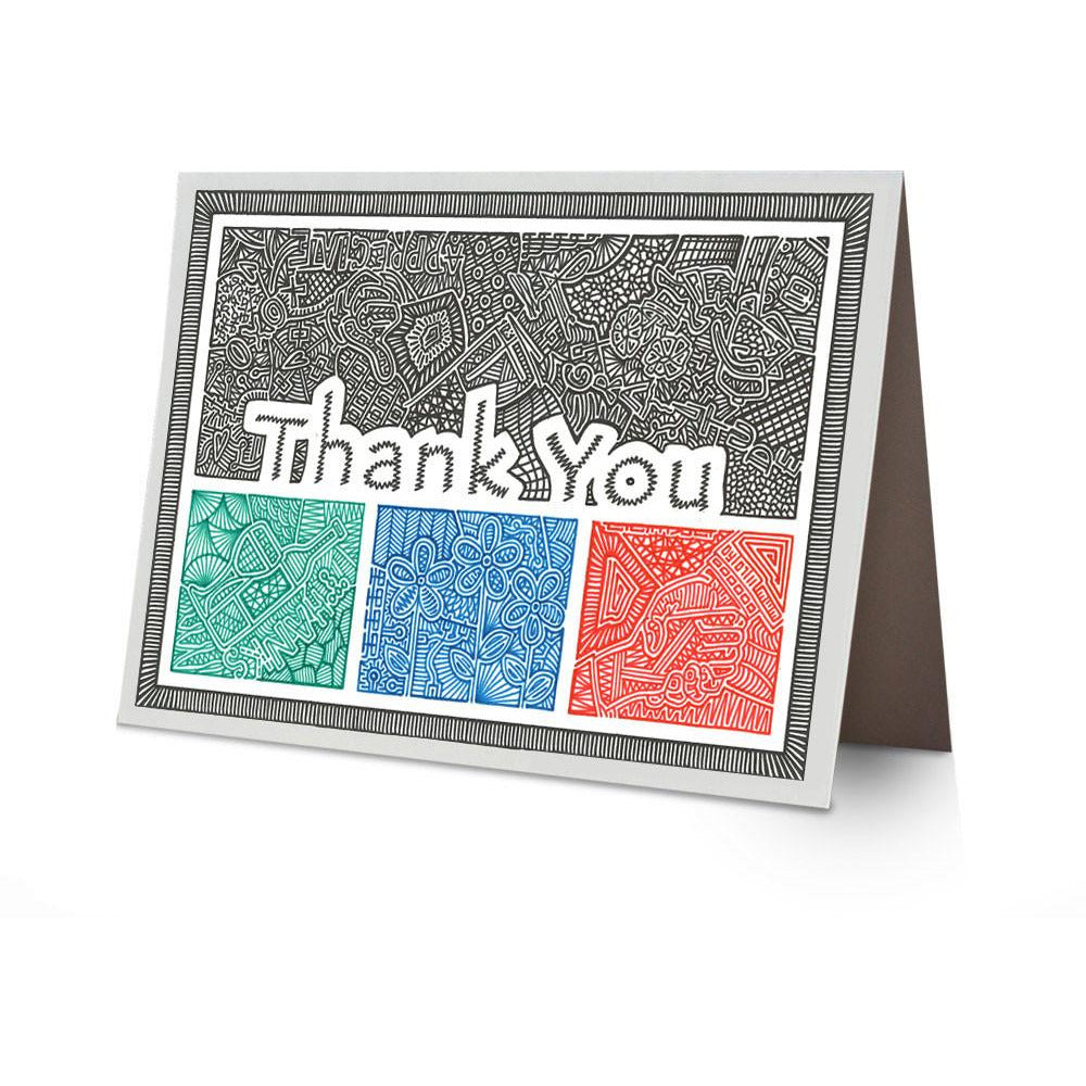 Greeting Card - Thank You-Greeting Cards-Viz Art Ink