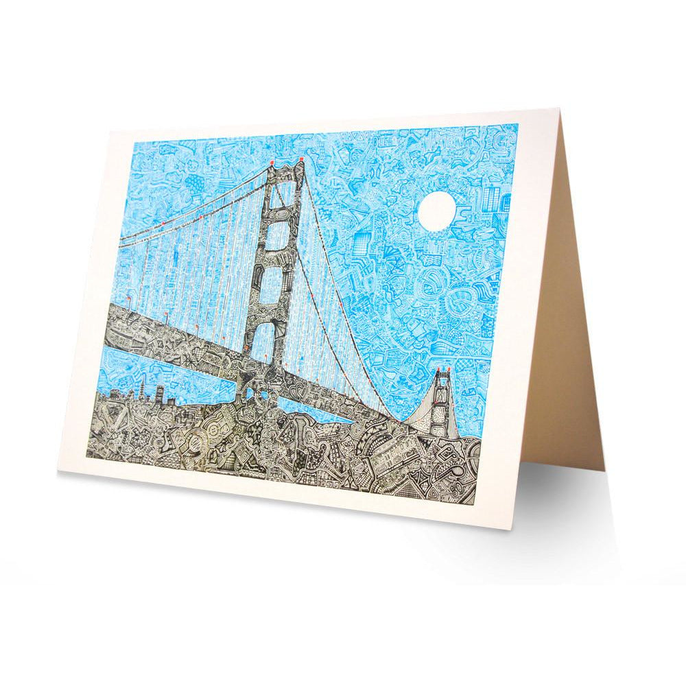 Greeting Card - Welcome to the Bay-Greeting Cards-Viz Art Ink