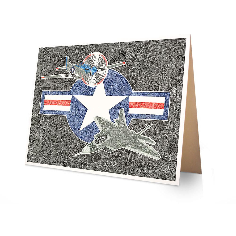 Greeting Card - Flight of the Fighter-Greeting Cards-Viz Art Ink
