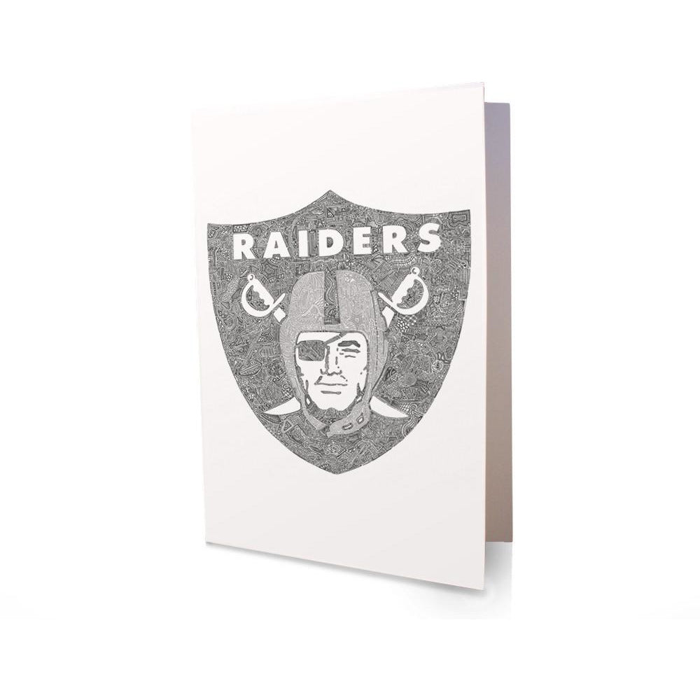 Greeting Card - RAIDERS-Greeting Cards-Viz Art Ink
