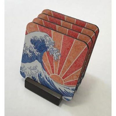Coasters - Off California (Red/Orange)-Coasters-Viz Art Ink