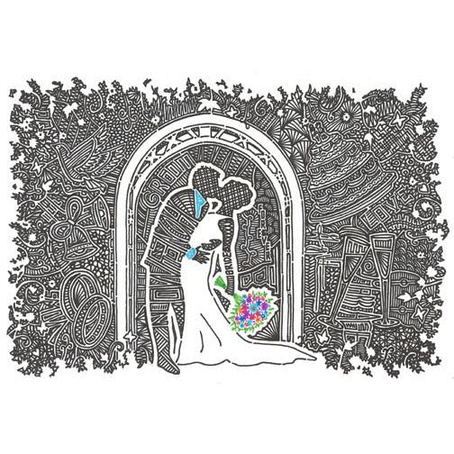 Art Print - Wedding Kiss
