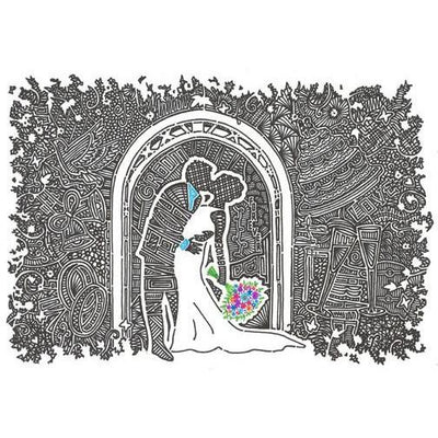 Art Print - Wedding Kiss-Art Print-Viz Art Ink
