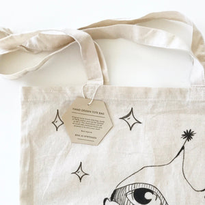 Totebag - hand drawn design - BineJoMo