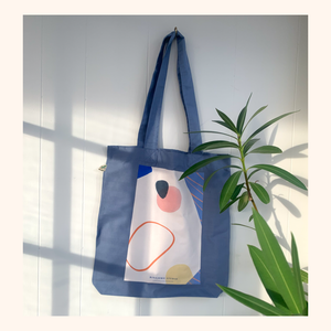 Back In The Days Tote Bag - Light blue - BineJoMo Studio
