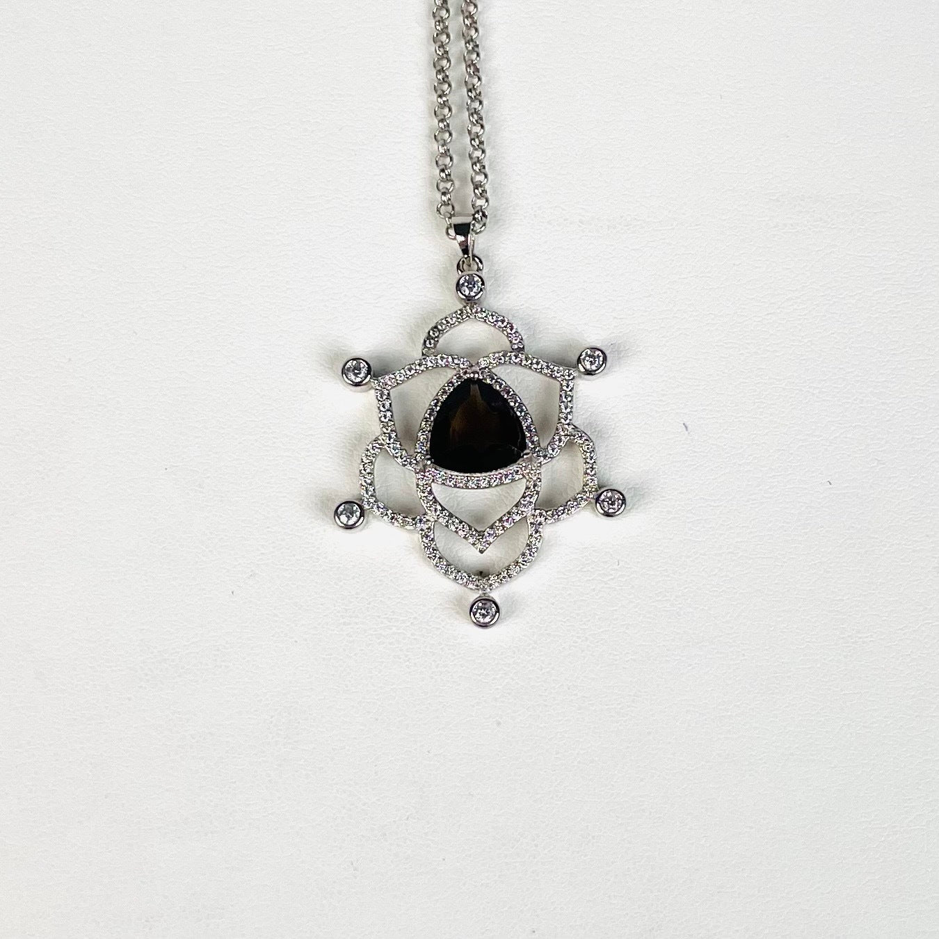 Rare Pink Ruby and Diamond Gold Vermeil Pendant