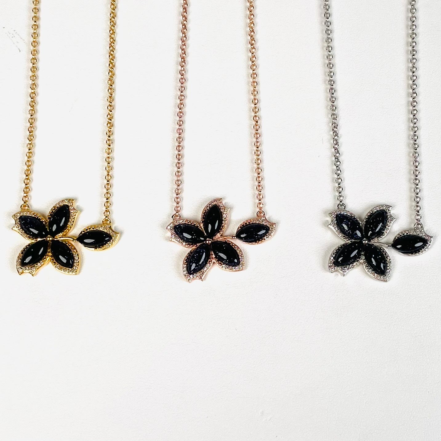 Rainbow Tourmaline Petal Necklace