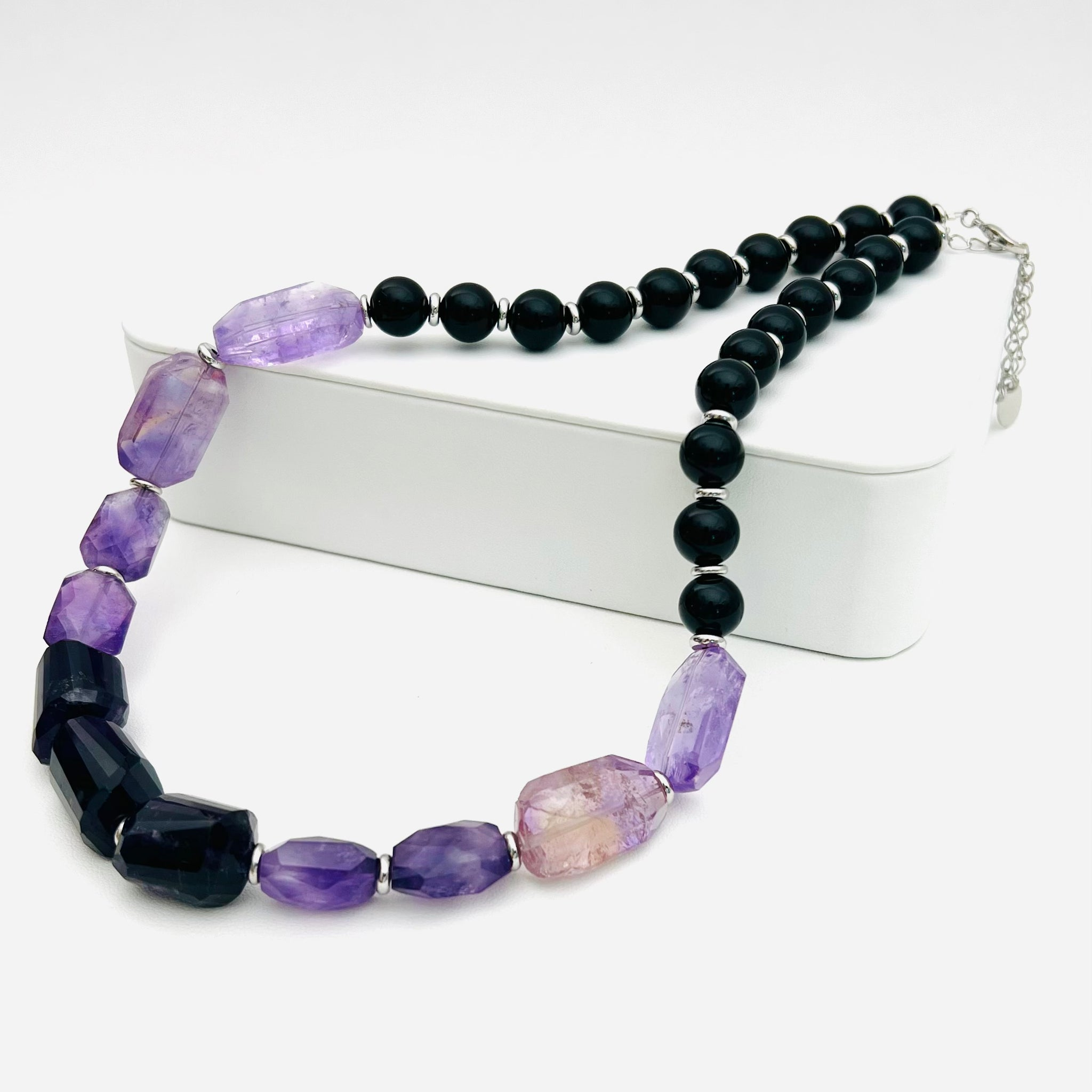 LOCKDOWN SALE!! Sacred Dahlia Ring - Lapis with Blue Lace Petals