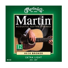 Martin 12 String 80/20 Bronze Extra Light Acoustic Guitar