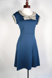 The Amelie Dress - Steel Blue