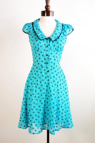The Bowtique Dress - Blue