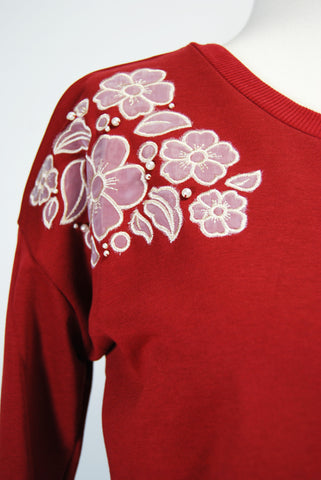 The Natasha Sweatshirt - Red