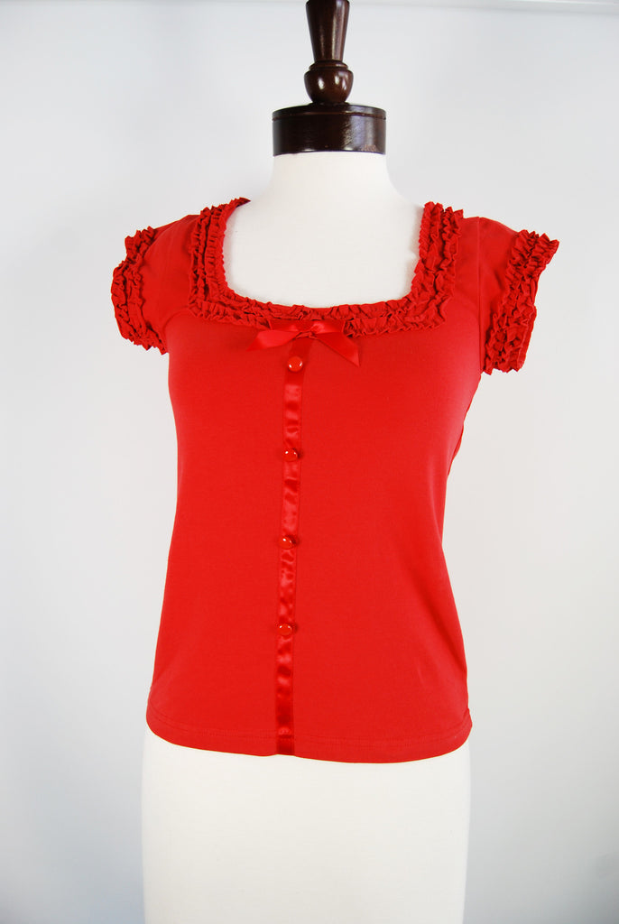 The Provence Blouse - Red