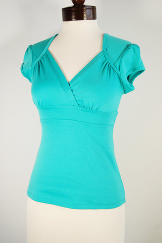 The Lush Blouse - Turquoise