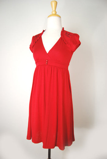 Derby Doll Red Retro Sparrow Dress