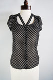 The Dottie Blouse - Black