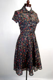 1930's Vintage STyle Day Dress Reversible Print
