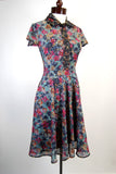 Exquisite 1940's Day Dress Reversible Print