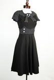 1950's Lucia Polka Dot Swing Dress