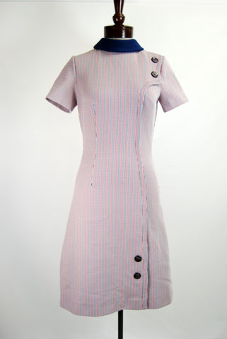 1960's Mod Airliner Shift Dress