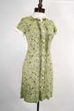 1930's Retro Day Dress Sage Green