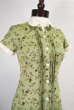 1930's Vintage Day Dress Sage Green