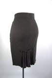 Black Pleated Pencil Skirt