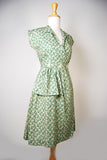 Sadie 1940's Vintage Cotton Day Dress