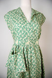 Sadie Green Retro Cotton Day Dress