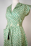 Sadie Green Cotton Day Dress