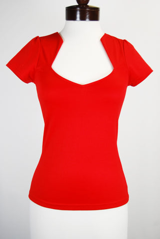 The Heartshaped Blouse - Red