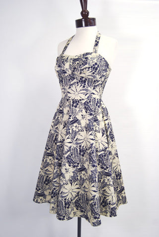 The Tropics 1950's Halter Swing Dress