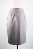 1940's Style Dove Grey Pencil Skirt