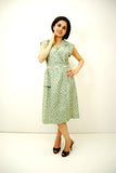 Sadie Green Vintage Reproduction Day Dress