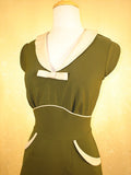 Stop Staring Olive Green Pin Up Dress