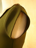 Stop Staring Olive Green Retro Dress