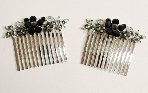 Amber Crystal Hair Comb (1)