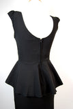Sabine Black Peplum Pin Up Dress