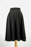 Black High Waist Swing Skirt
