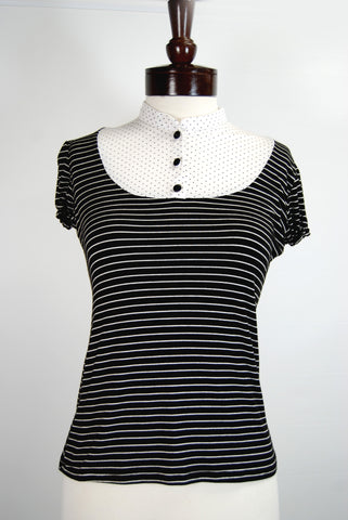 The Black and White Truffle Top