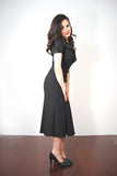 Mystere Black Pin Up Retro Dress