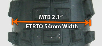 MTB profile with ETRTO equivalent