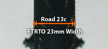 Road profile with ETRTO equivalent