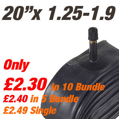 "Folding Bike 20"" Inner Tube Car Valve - From £2.30"