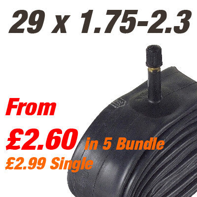 "MTB 29"" Inner Tube Car Valve (700x44-59) - From £2.60"