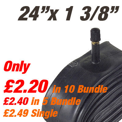 "Wheelchair 24"" x 1 3/8"" Inner Tube Car Valve - From £2.40"
